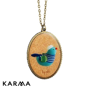Karma Bird Pendant Necklace