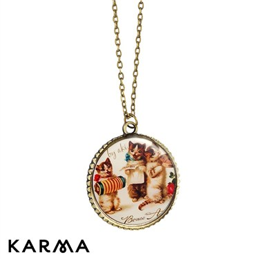 Karma Kittens Pendant Necklace