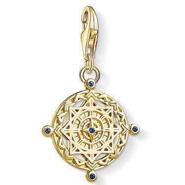 Thomas Sabo Gold Panel Compass Charm  - Click to view larger image