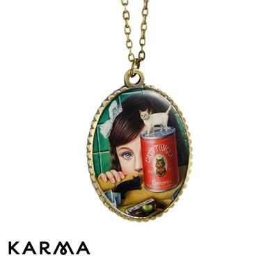 Karma Little Girl Pendant Necklace