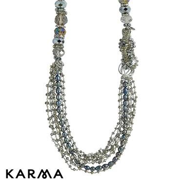 Karma Metallic Crystal Necklace
