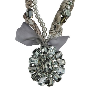 Karma Velvet Necklace With Crystals