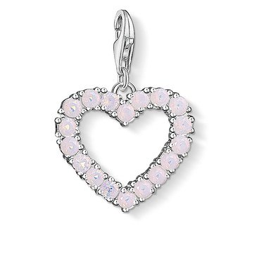 Thomas Sabo Pink Heart Charm  - Click to view larger image