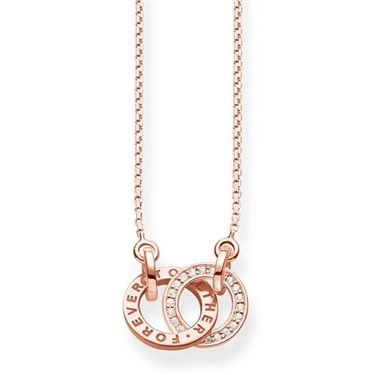 Thomas Sabo Rose Gold Together Forever Necklace  - Click to view larger image
