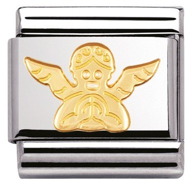 Nomination Gold Angel Charm  - Click to view larger image