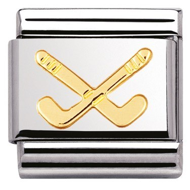 Nomination Hockey Clubs Charm  - Click to view larger image