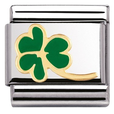 Nomination Green Shamrock Charm  - Click to view larger image