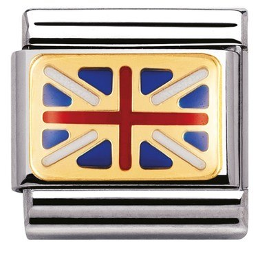 Nomination Union Jack Flag Charm  - Click to view larger image