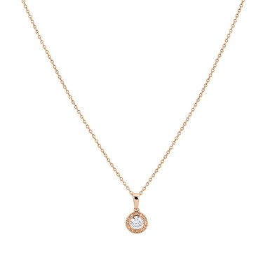 Argento Rose Gold Champagne Border Halo Necklace  - Click to view larger image