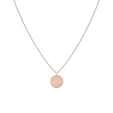 Argento Rose Gold Roman Sun Coin Necklace  - Click to view larger image