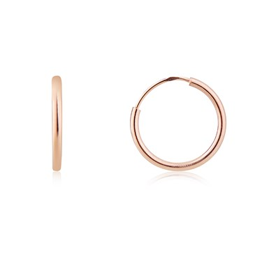 Argento Rose Gold Small Hoop Earrings  - Click to view larger image