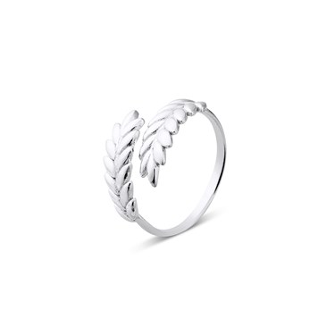 Argento Silver Adjustable Leaf Ring  - Click to view larger image