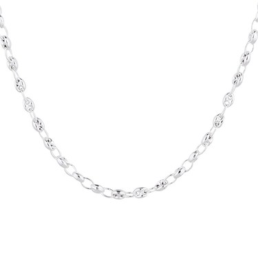 Argento Silver Classic Link Necklace  - Click to view larger image