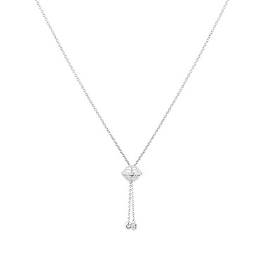 Argento Silver CZ Orb Drop Necklace  - Click to view larger image