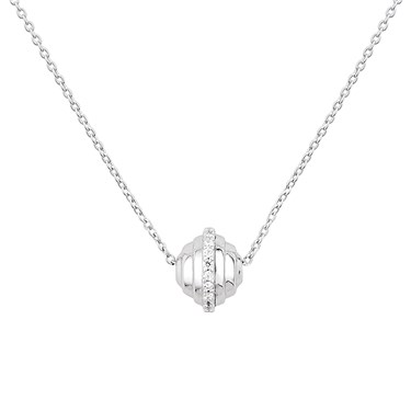 Argento Silver CZ Orb Necklace  - Click to view larger image