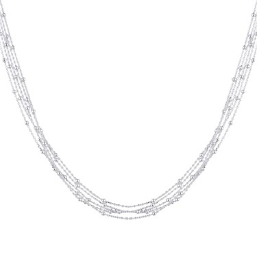 Argento Silver Layer Bead Necklace  - Click to view larger image