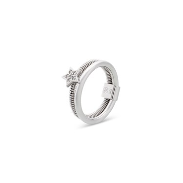 Argento Silver Ridge Star Ring  - Click to view larger image