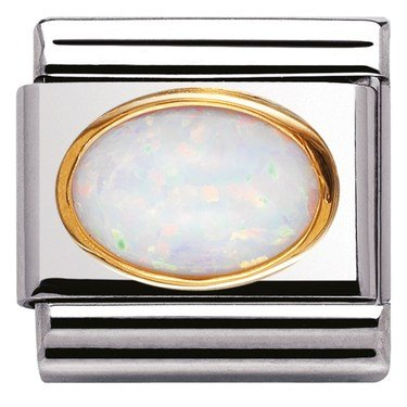 Nomination Oval White Opal Charm  - Click to view larger image