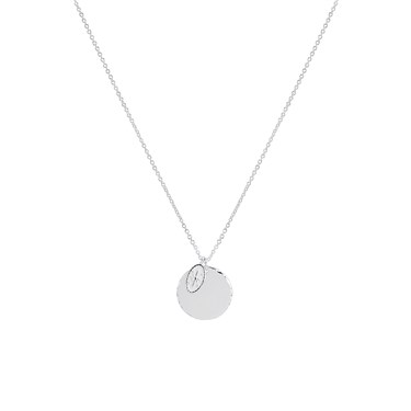Argento Silver Star Compass Coin Necklace  - Click to view larger image