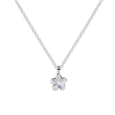 Argento Silver Crystal Flower Necklace  - Click to view larger image