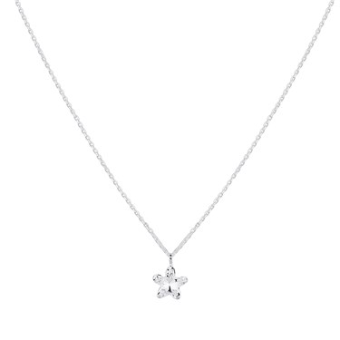 Argento Silver Crystal Star Necklace  - Click to view larger image