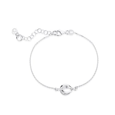 Argento Silver Twist Oval Bracelet  - Click to view larger image