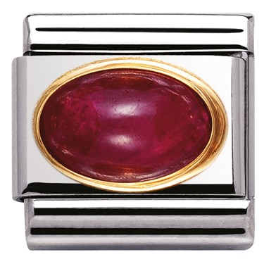 Nomination Oval Ruby Charm  - Click to view larger image