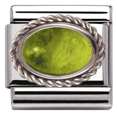 Nomination Framed Peridot Stone Charm  - Click to view larger image