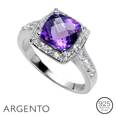 Argento Square CZ Ring