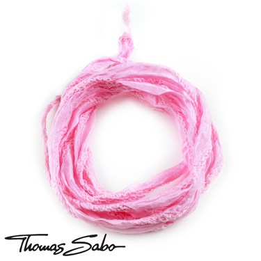 Thomas Sabo Pink Silk Charm Ribbon   - Click to view larger image