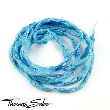 Thomas Sabo Blue Silk Charm Ribbon   - Click to view larger image