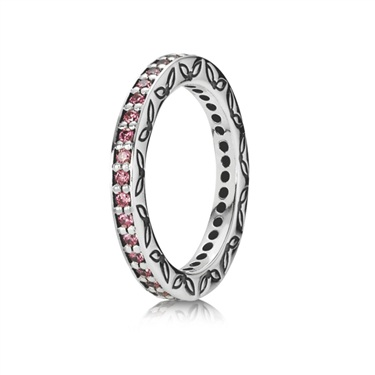 Pandora Salmon Zirconia Ring