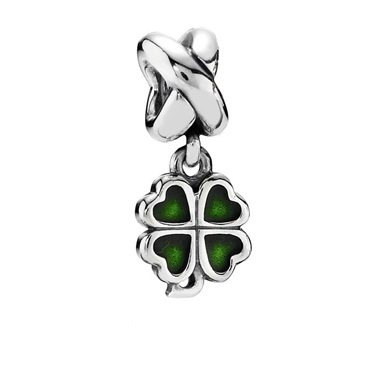 Pandora Green Clover Charm  - Click to view larger image