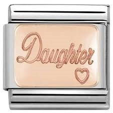 Nomination Rose Gold Daughter Charm  1
