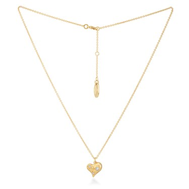 Vivienne Westwood Gold Alice Heart Necklace  - Click to view larger image