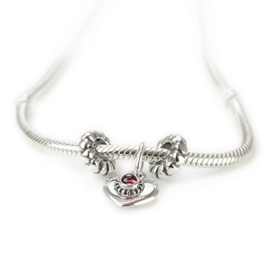 Pandora Pink Hearts Necklace
