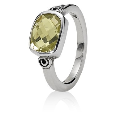 Pandora Karma Ring With Lime Quartz
