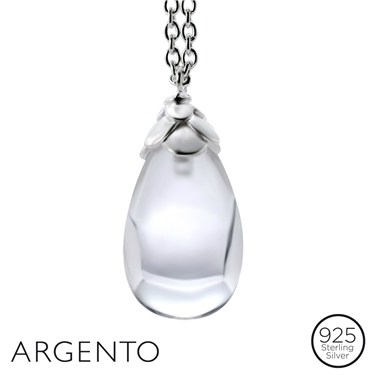 Argento Crystal Drop Necklace
