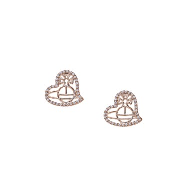 Vivienne Westwood Giuseppa Rose Heart Earrings   - Click to view larger image