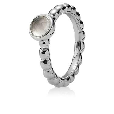 Pandora Natural Light Rose Quartz Ring