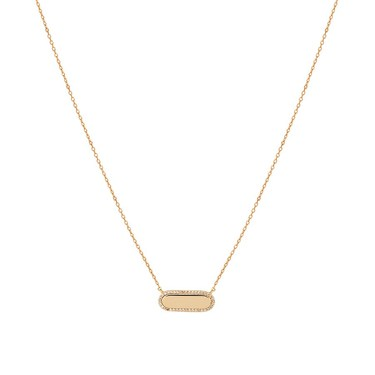 August Woods Gold Crystal Bar Necklace  - Click to view larger image