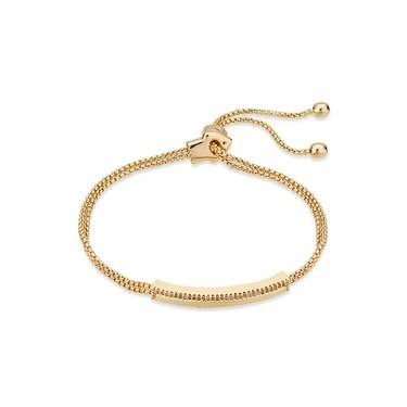 August Woods Gold Crystal Long Bracelet  - Click to view larger image