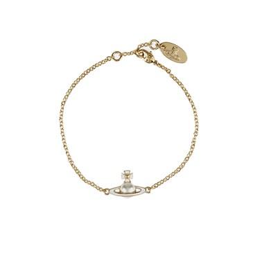 Vivienne Westwood Iris Gold Pearl Bracelet   - Click to view larger image