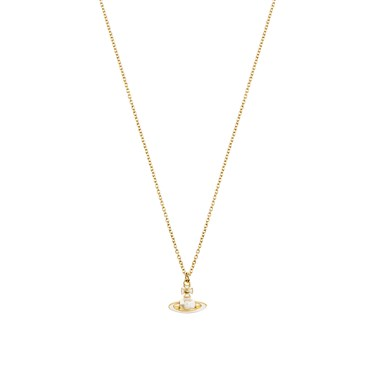 Vivienne Westwood Iris Gold Pearl Necklace   - Click to view larger image