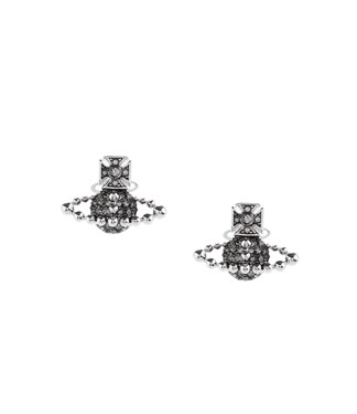 Vivienne Westwood Black Lena Earrings  - Click to view larger image