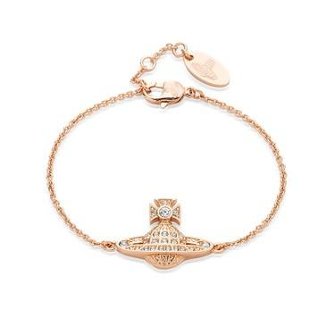 Vivienne Westwood Rose Gold Mini Bas Relief Bracelet  - Click to view larger image