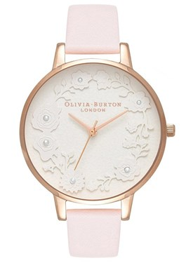 Olivia Burton Artisan Dial Blossom & Rose Gold Watch   - Click to view larger image