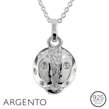 Argento Ladybird Necklace