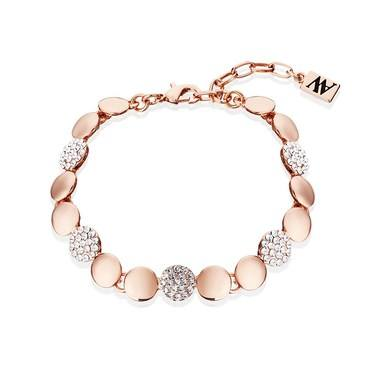 August Woods Rose Gold Crystal Alternate Circle Bracelet  - Click to view larger image