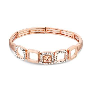 August Woods Rose Gold Champagne Crystal Bracelet  - Click to view larger image